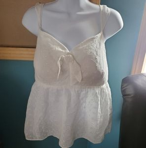 Candies Womens Top Size XXl White
